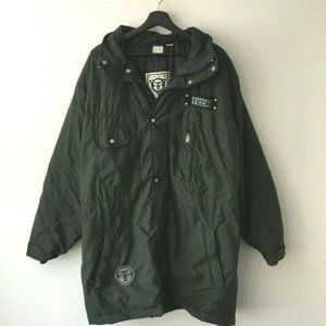 Ocean Pacific Tech Jacket Hoodie Button Green XL